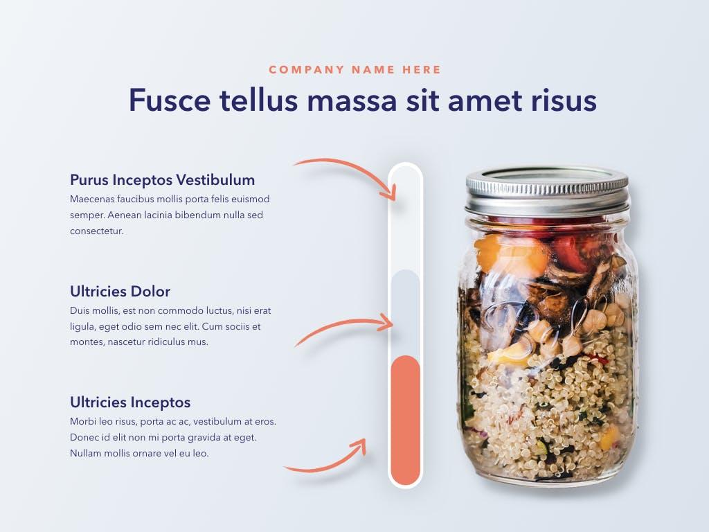 西餐料理品牌新菜品介绍PPT幻灯片模板Nutritious PowerPoint Template插图(7)