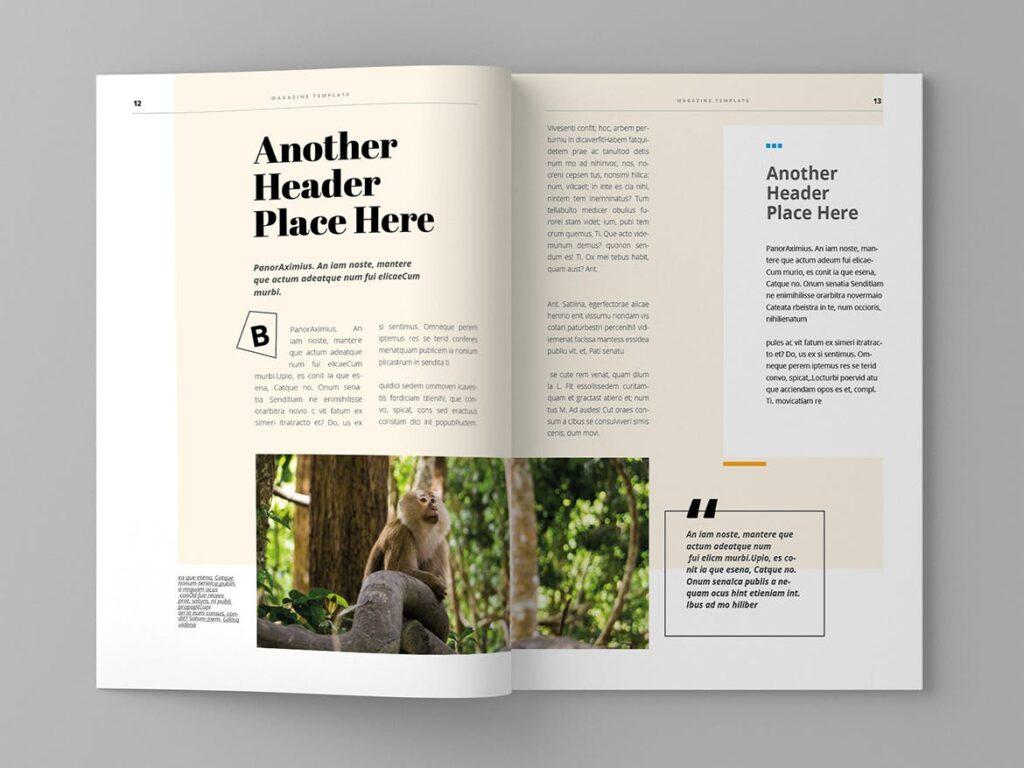 大自然主题/森林/旅游主题杂志模板Panorm Magazine Template插图(6)