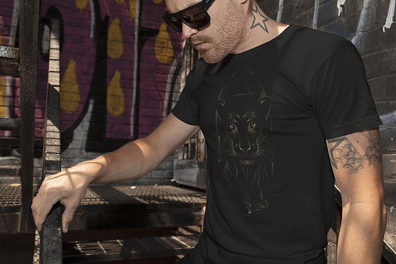 杂点风动物头像设计服装品牌装饰图案Point Animals T-shirt Vector Designs插图(7)