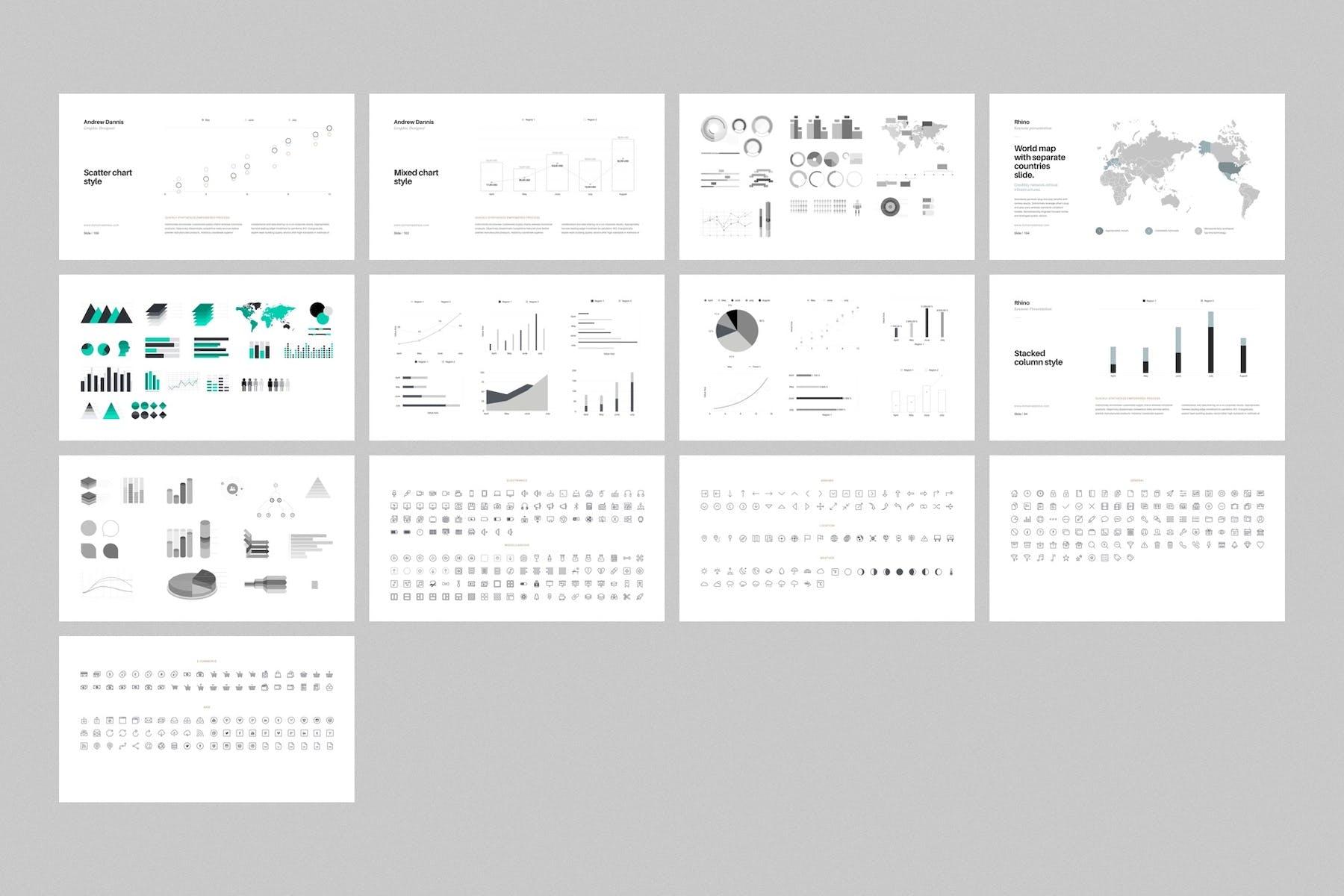 多用途极简风格PPT幻灯片模板下载Rhino Keynote Presentation Template插图(7)