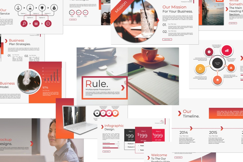 企业市场策划/企业年报汇报PPT幻灯片模板Rule Creative Keynote插图(7)