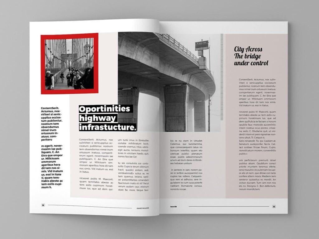 年代历史回忆录主题杂志模板素材Stained Magazine Template插图(5)