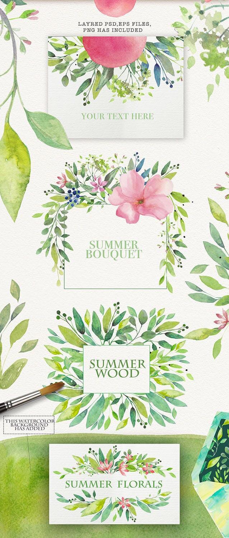 夏季素材鲜花素材装饰排列合集THE SUMMER BREEZE插图(7)