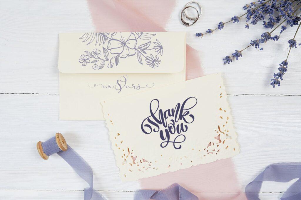 简单和经典婚礼邀请函主题装饰图案Wedding Vector Calligraphy插图(7)