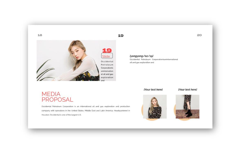 时尚潮流品牌提案PPT幻灯片模板Yong Google Slide插图(6)