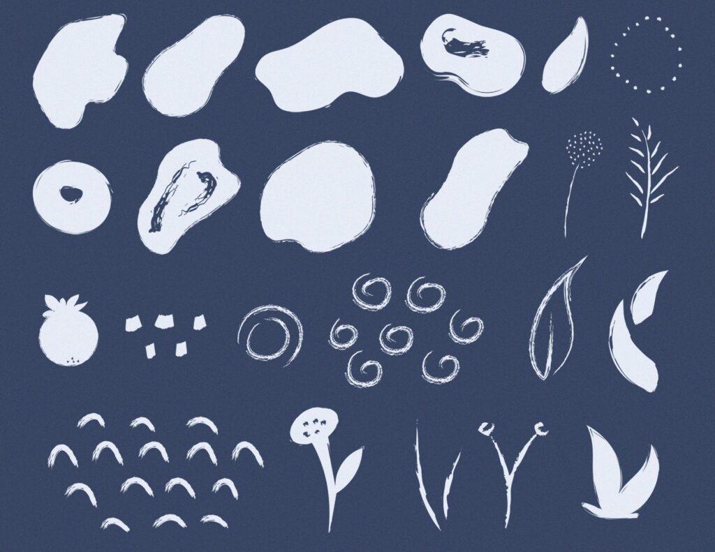 艺术笔触抽象元素装饰图案Artistic Dimension Abstract Patterns插图(7)