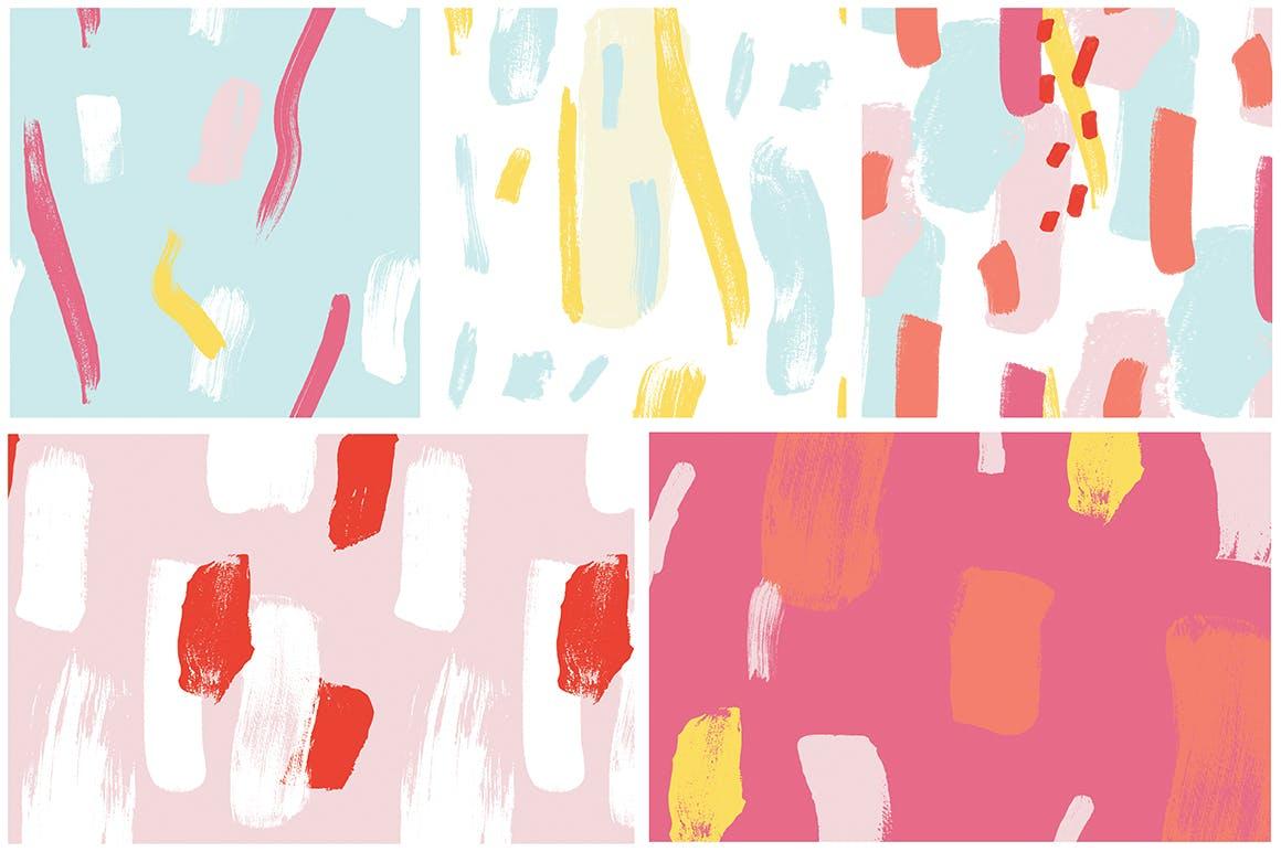 抽象图案多彩笔触纹理素材Color Splash Patterns插图(8)