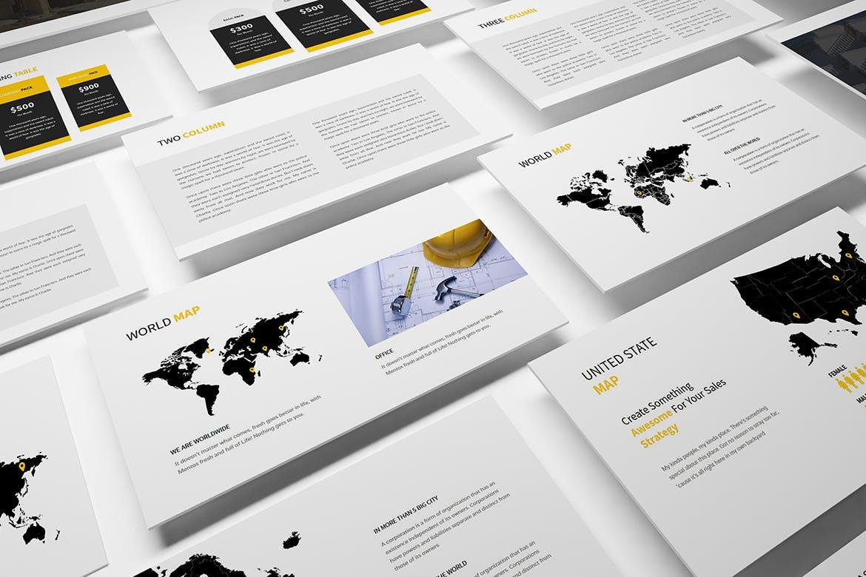 建筑行业团队介绍幻灯片模板展示Construction Powerpoint Presentation插图(8)
