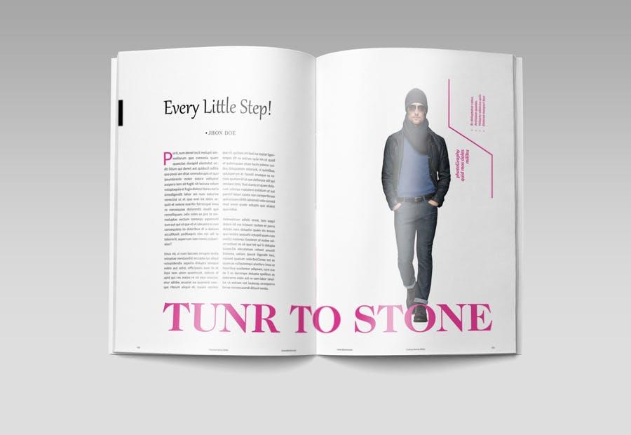 模特经纪或时装展览杂志模板素材Fashion Magazine R8C6UK插图(8)