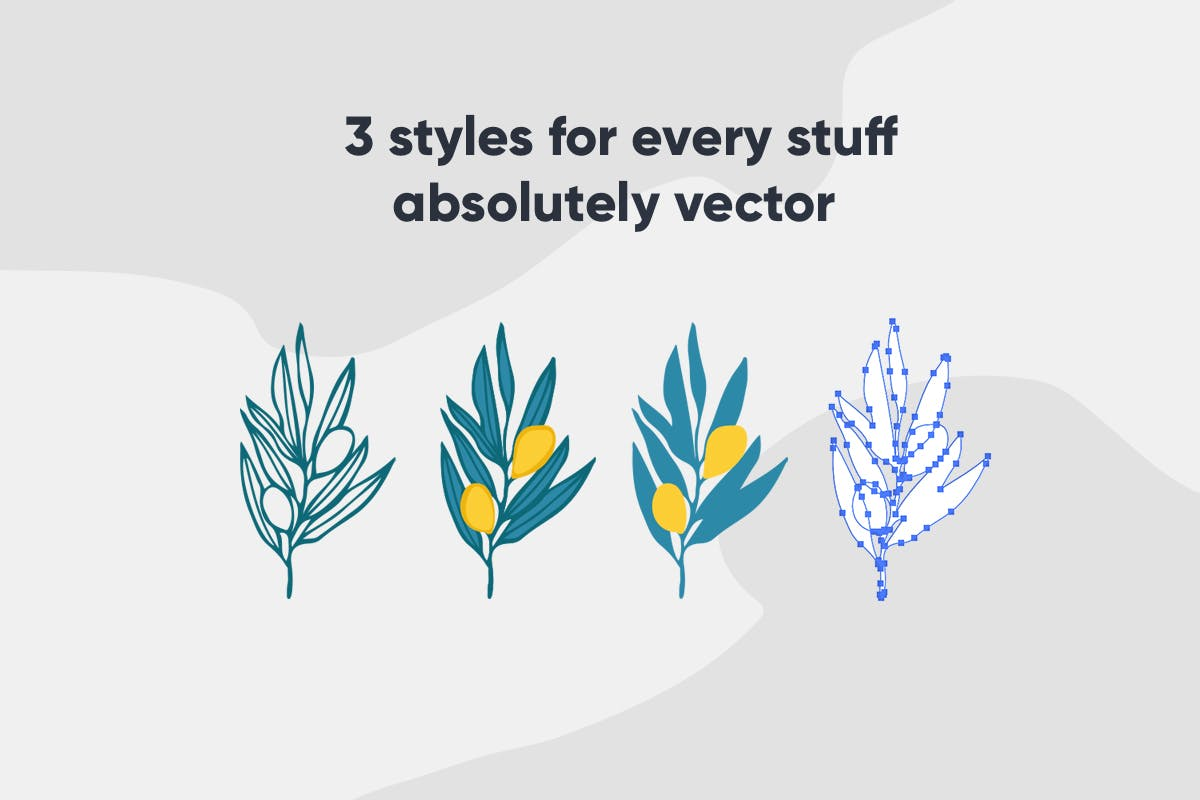 自然和花朵影响的艺术图案化妆品牌包装装饰图案Floral Backgrounds Patterns插图(8)