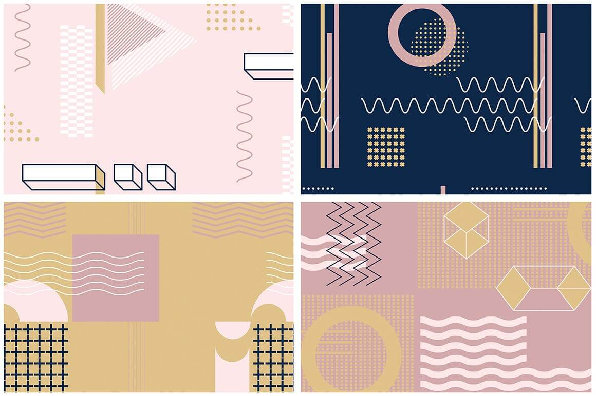 企业品牌服装图形几何风格装饰图案素材Girlboss Patterns插图(8)
