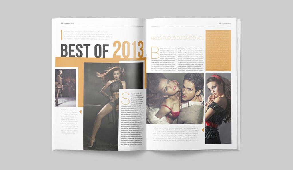 写真集/采访/画廊主题杂志模板下载Magazine Template 6N4PTQJ插图(8)