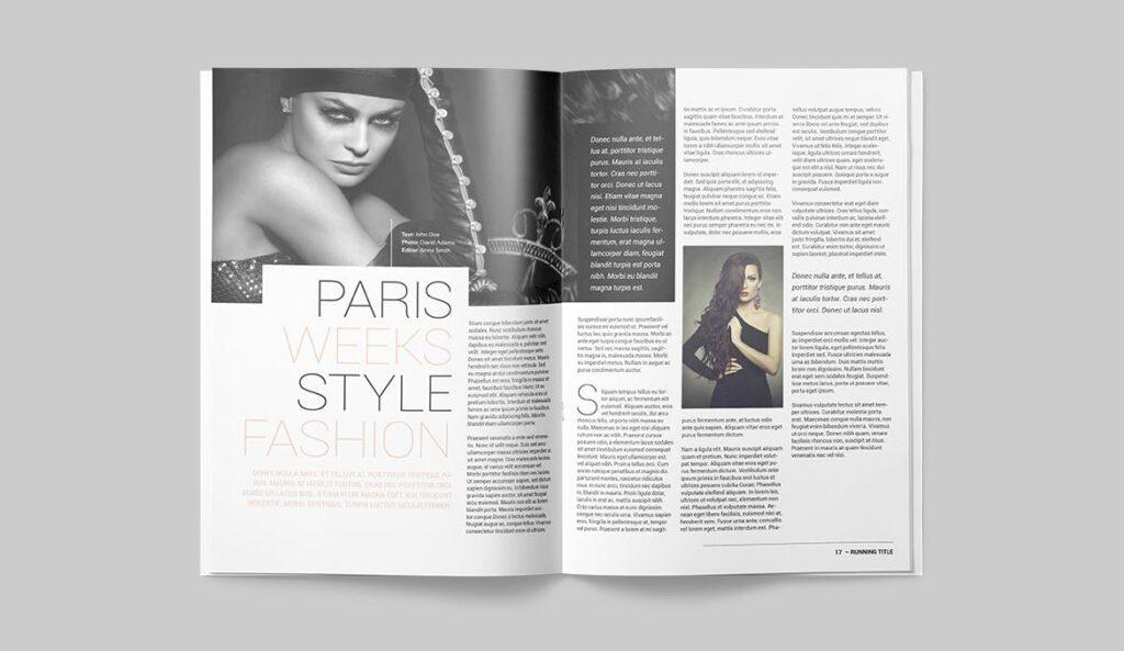 时尚潮流/画廊主题杂志模板Magazine Template SLCJBWR插图(8)