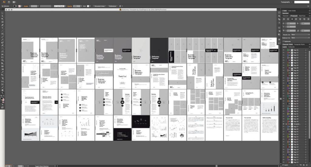北欧风家居产品风格画册杂志模板下载Nano Illustrator Stationery Template插图(8)