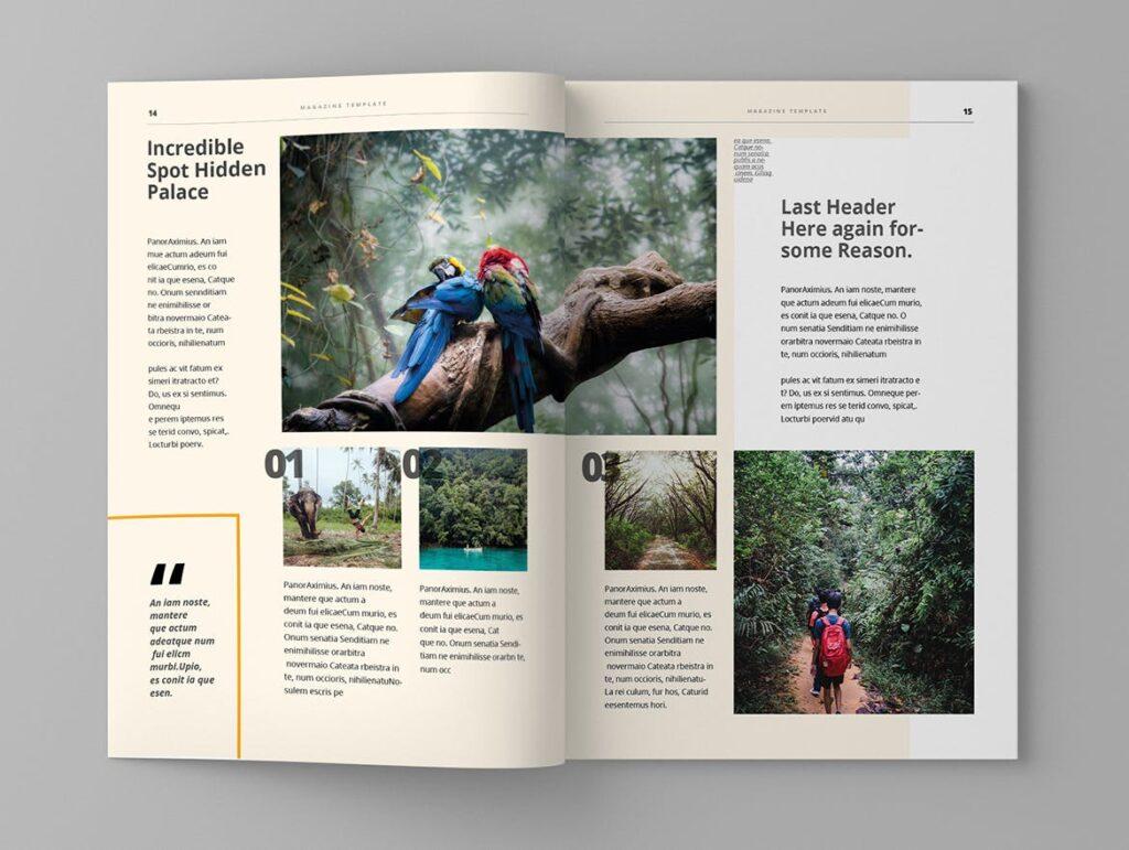 大自然主题/森林/旅游主题杂志模板Panorm Magazine Template插图(7)