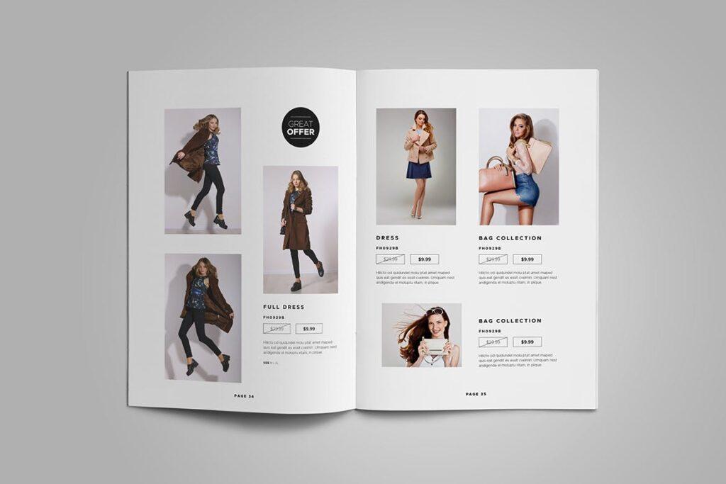 时尚服装/产品目录画册模板Product Catalog Template插图(8)