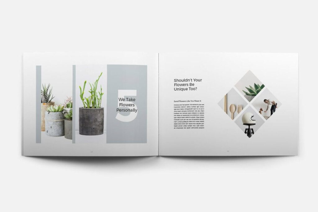 简约绿植居家生活类画册模板Rigel Brochure Template插图(8)