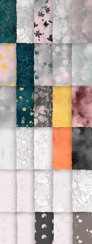 微妙优雅画花卉和图案素材下载Subtle Beauty Graphic Collection插图(4)