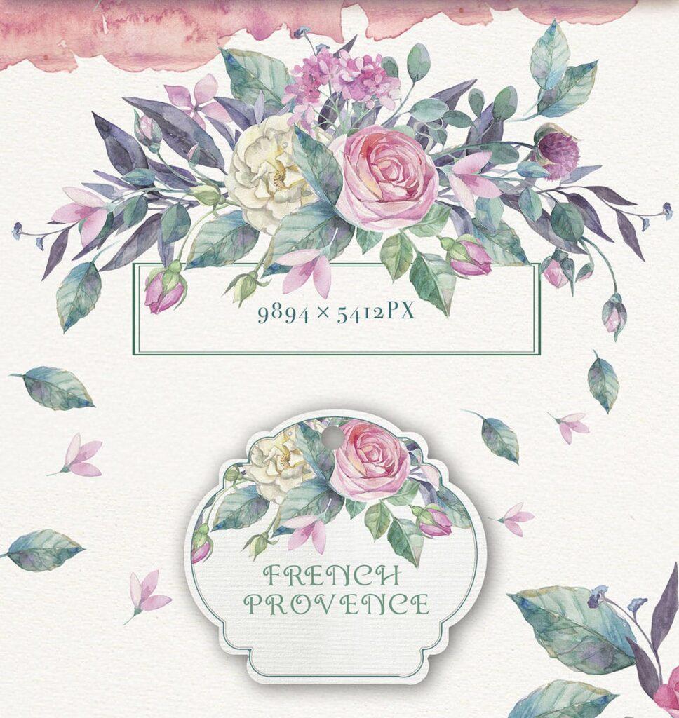 企业品牌装饰图案花卉/花圈/装饰图案The garden roses插图(8)