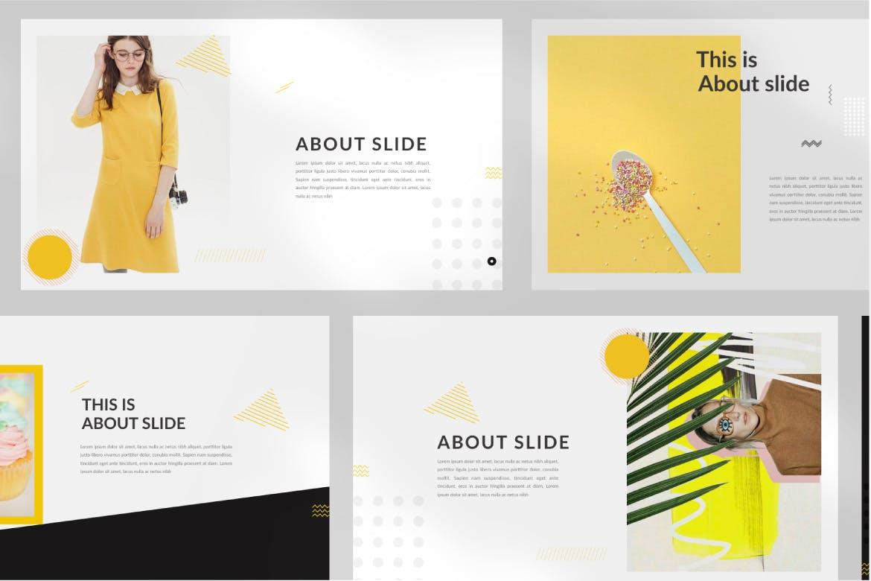 欧美风素材模板演示文稿模板Yellow Creative Keynote插图(6)