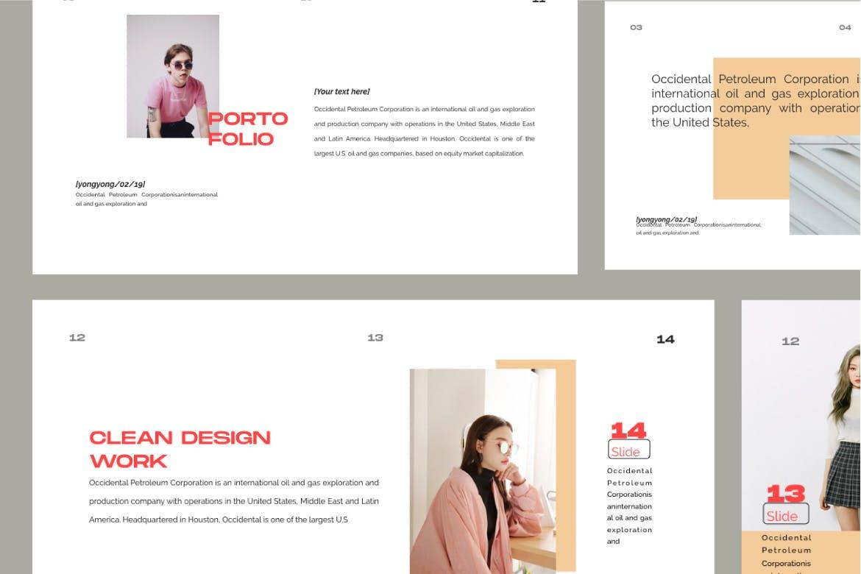 时尚潮流品牌提案PPT幻灯片模板Yong Google Slide插图(7)