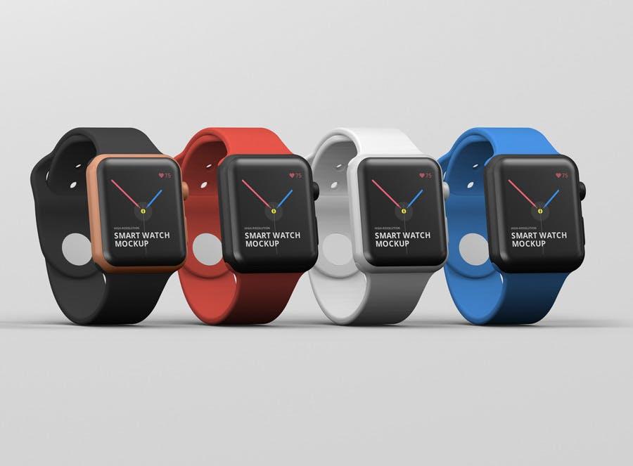 苹果手机价格_苹果手表iwatch展示效果图样机模板展示效果图 素材Smart Watch Mockup ...