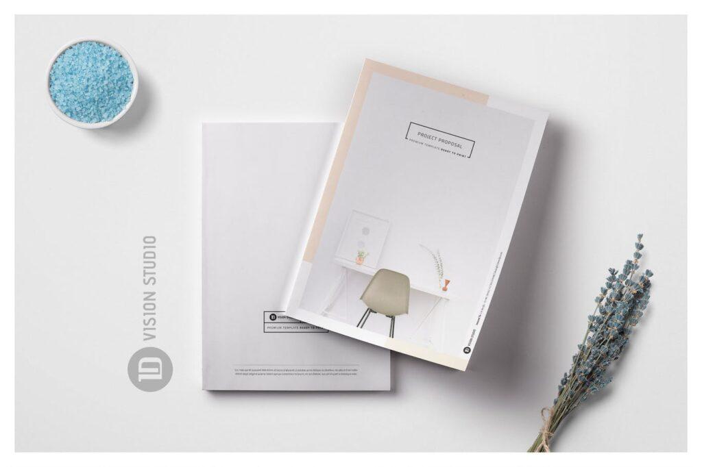 A4尺寸企业项目提案画册模板素材Proposal 005插图