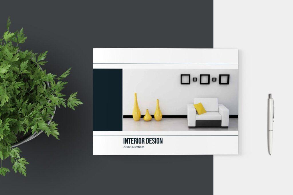横版家居产品介绍/目录/投资组合画册模版素材Portfolio Brochure Catalog插图