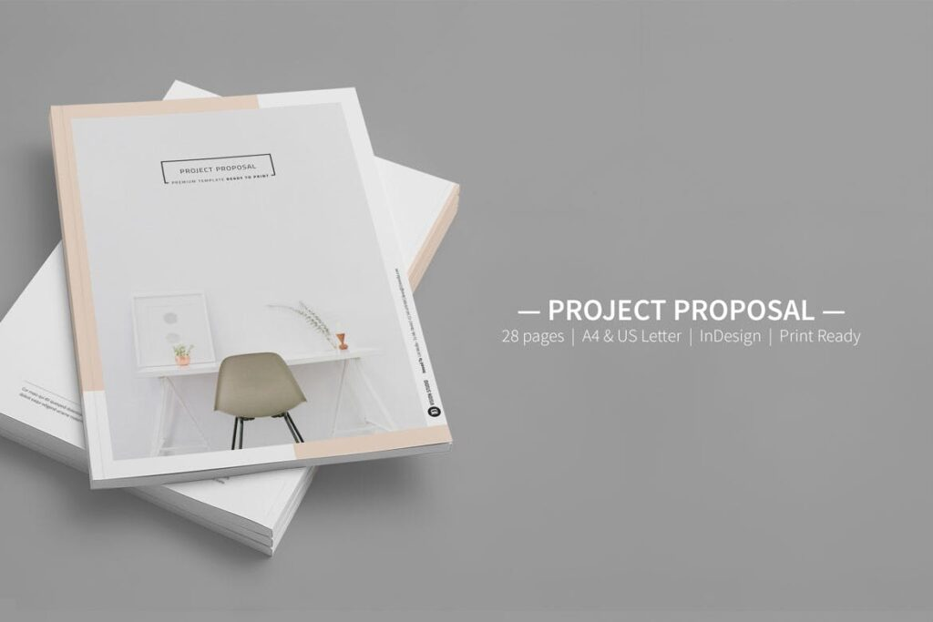 A4尺寸企业项目提案画册模板素材Proposal 005插图(6)