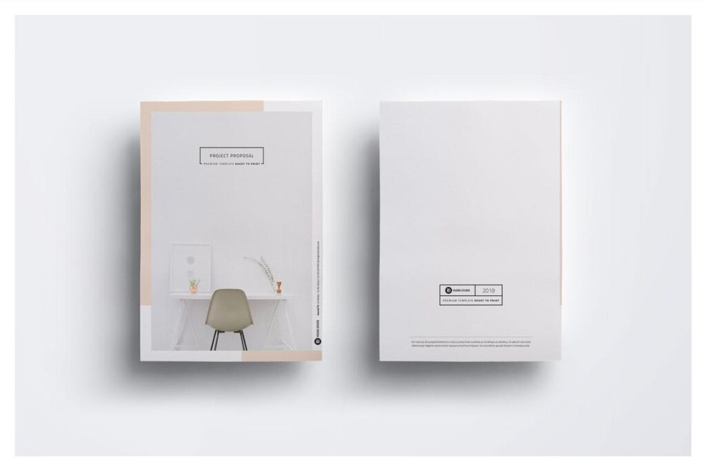 A4尺寸企业项目提案画册模板素材Proposal 005插图(1)