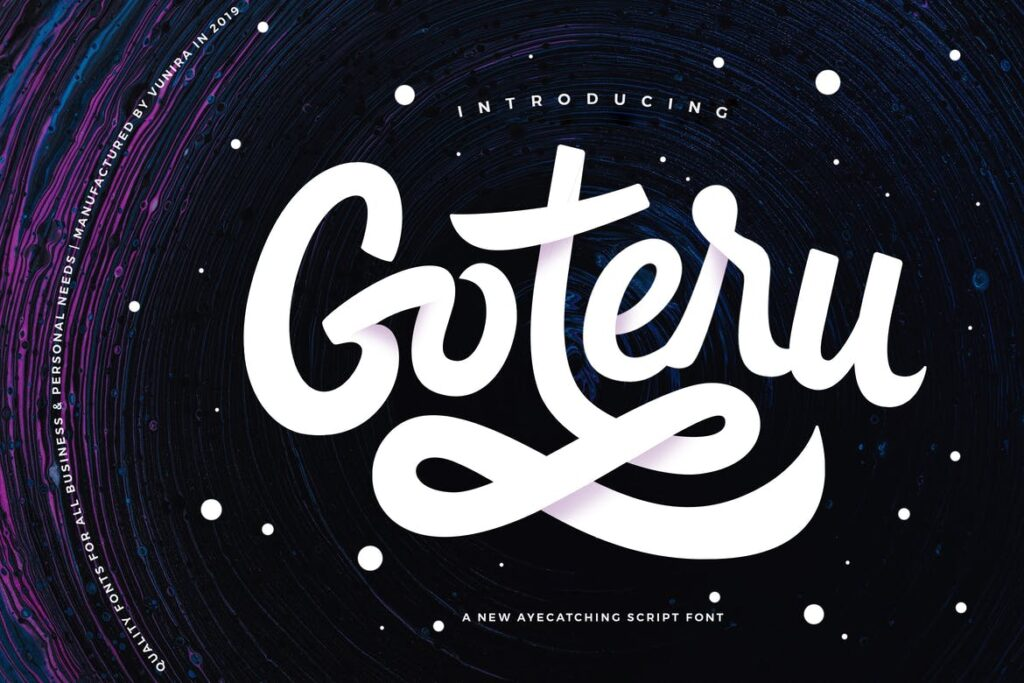 简约文艺邀请贺卡手写英文字体Goteru Eyecatching Script Font插图