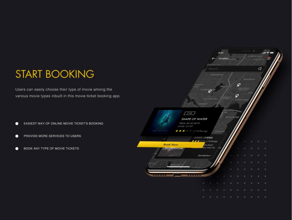 订票助手主题概念UI界面素材设计套件ANKER Cinema ticket booking app UI kits插图(2)