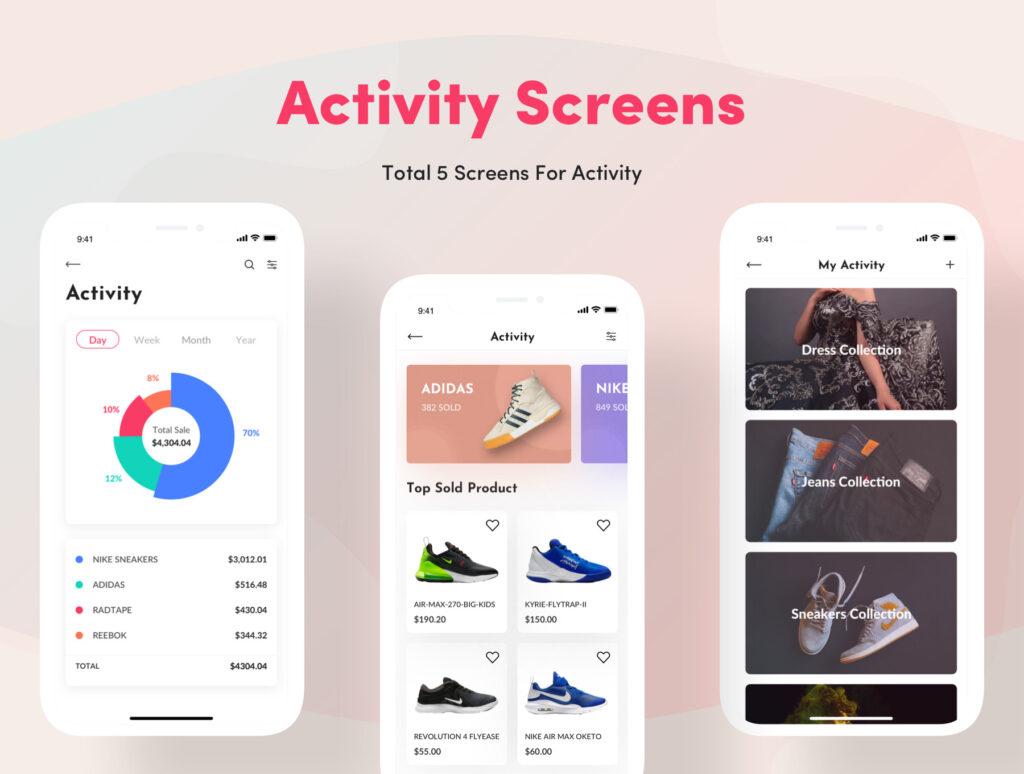 电子商务主题购物概念UI界面设计套件素材Bright App UI Kit插图(12)