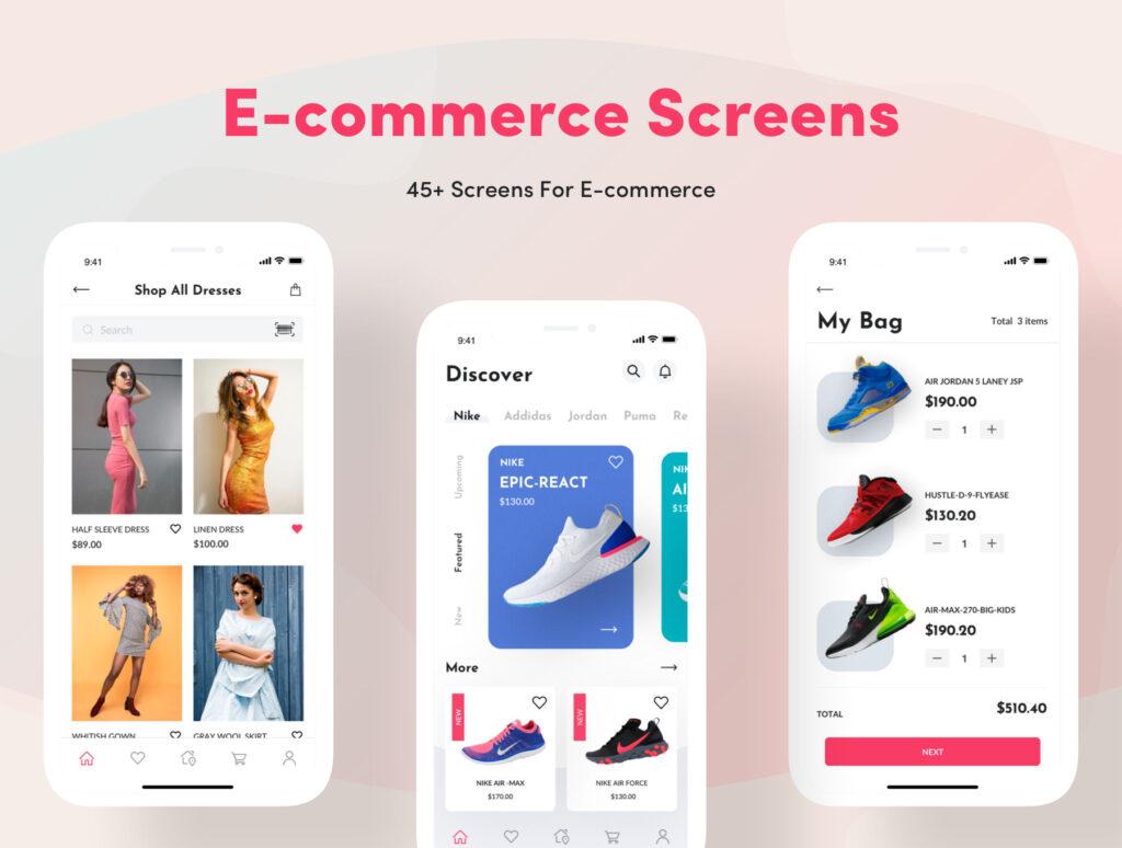 电子商务主题购物概念UI界面设计套件素材Bright App UI Kit插图(14)