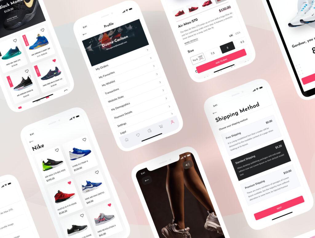 电子商务主题购物概念UI界面设计套件素材Bright App UI Kit插图(15)