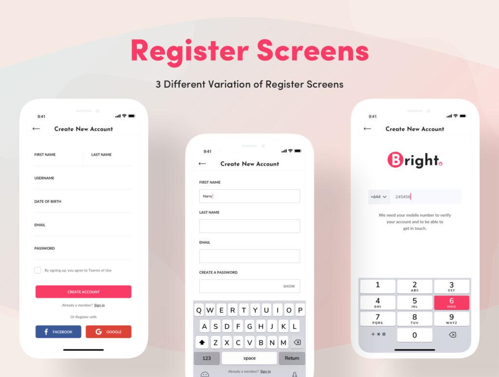 电子商务主题购物概念UI界面设计套件素材Bright App UI Kit插图(6)
