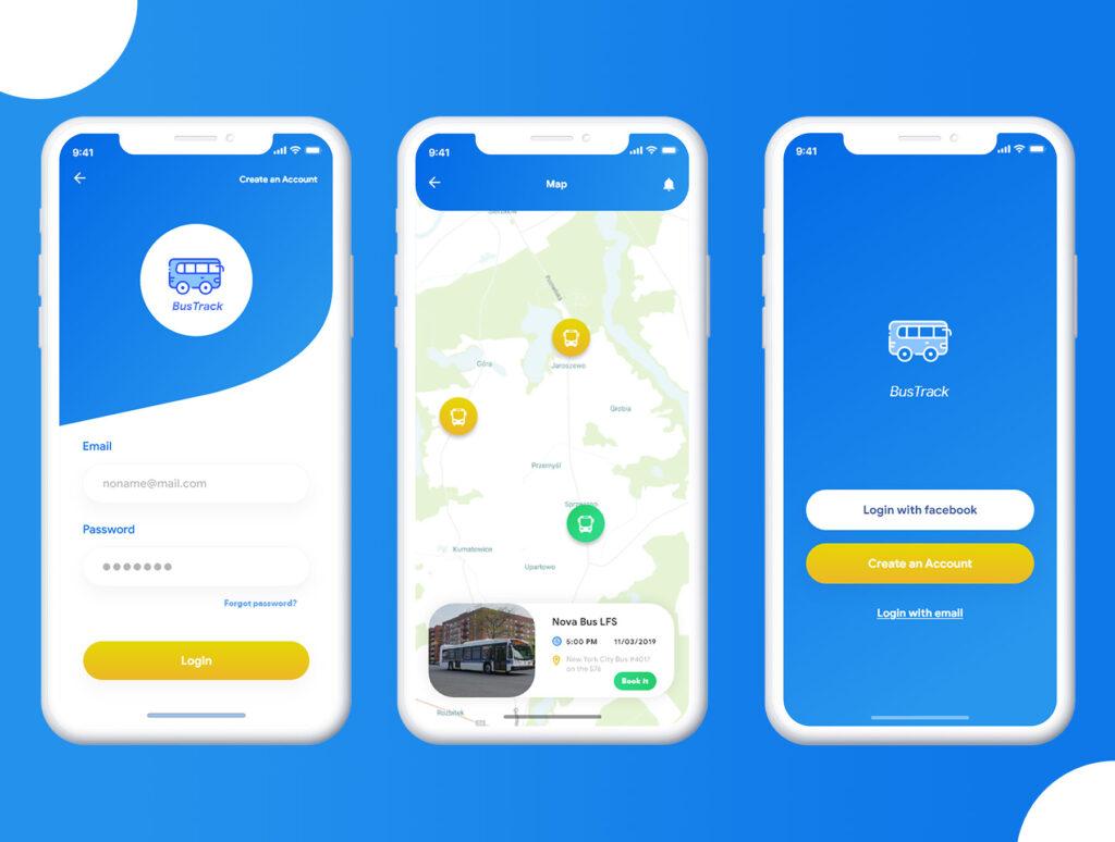 巴士出行类定位软件UI设计套件模型下载BusTracker app UI Kit插图(6)