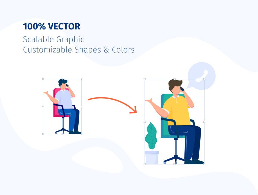 8个办公场景插画模素材模型下载COMMUNICO Illustration Kit插图(3)