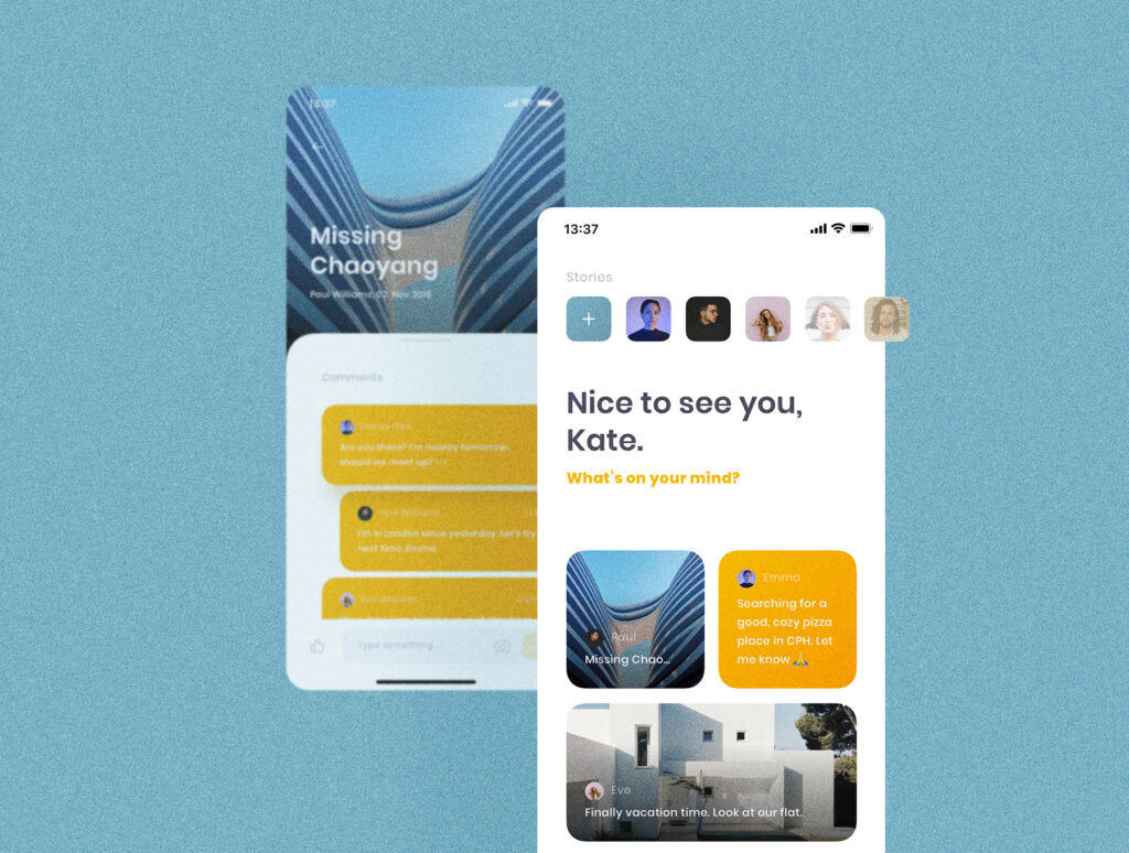 旅游社交类应用UI设计套件模型素材下载插图(2)