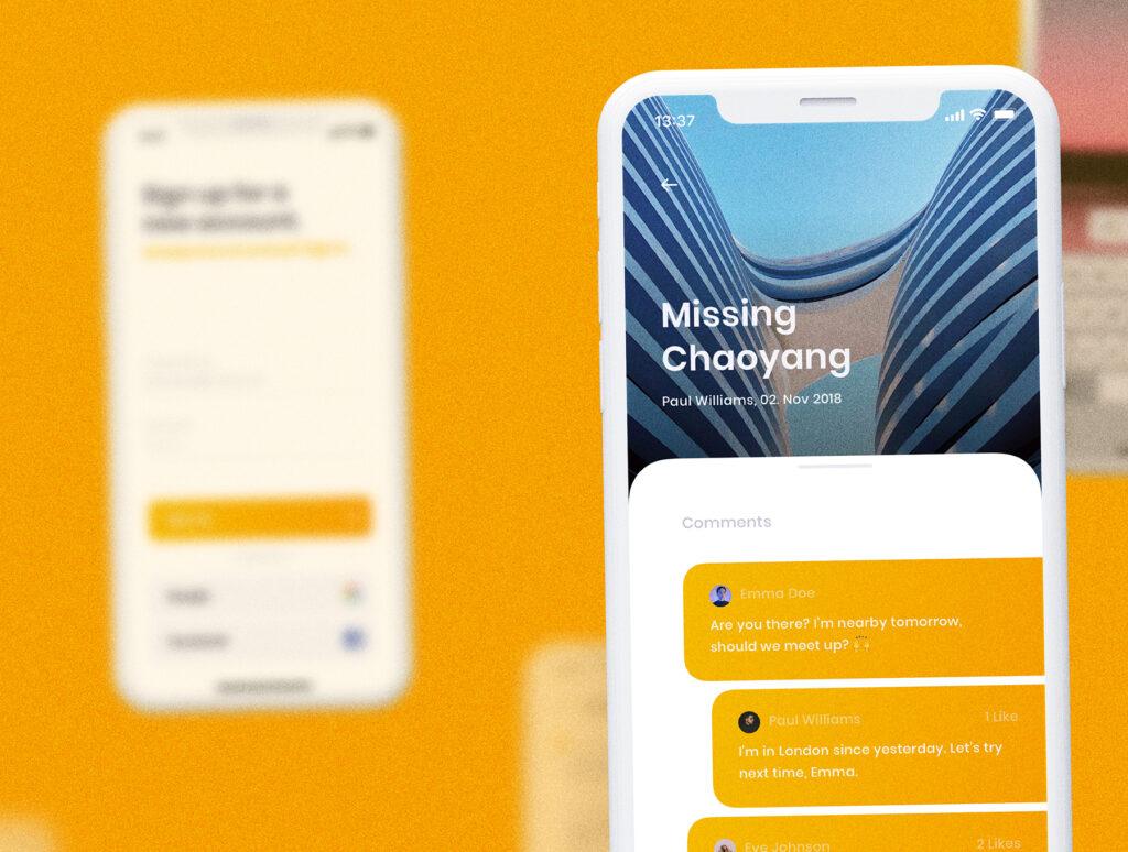 旅游社交类应用UI设计套件模型素材下载插图(10)