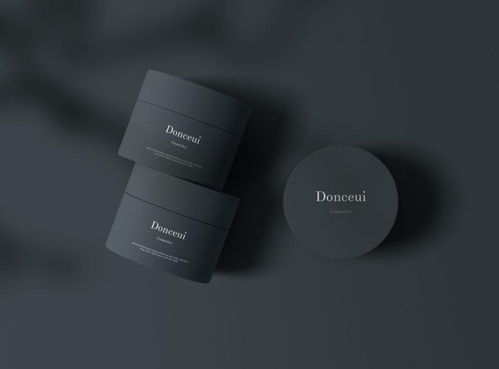 精致透视角度化妆品罐样机素材模版下载Cosmetic Jars Mockup插图(1)