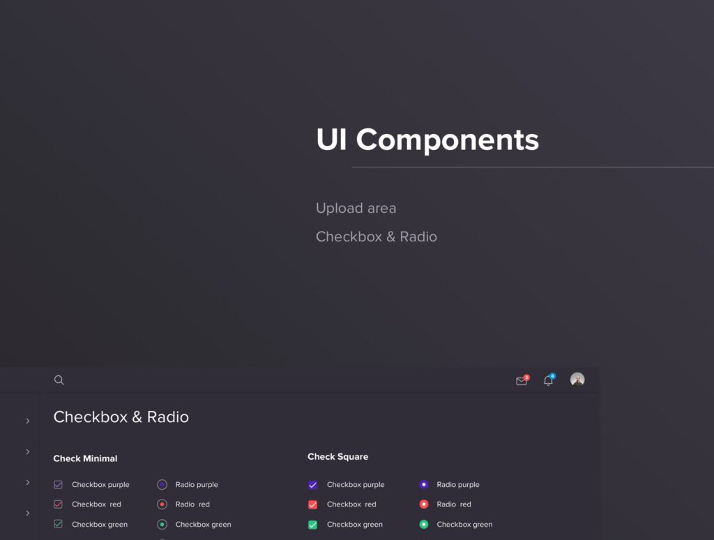 后台管理系统界面工具包UIKIT素材Dashboard Panel Design插图(6)