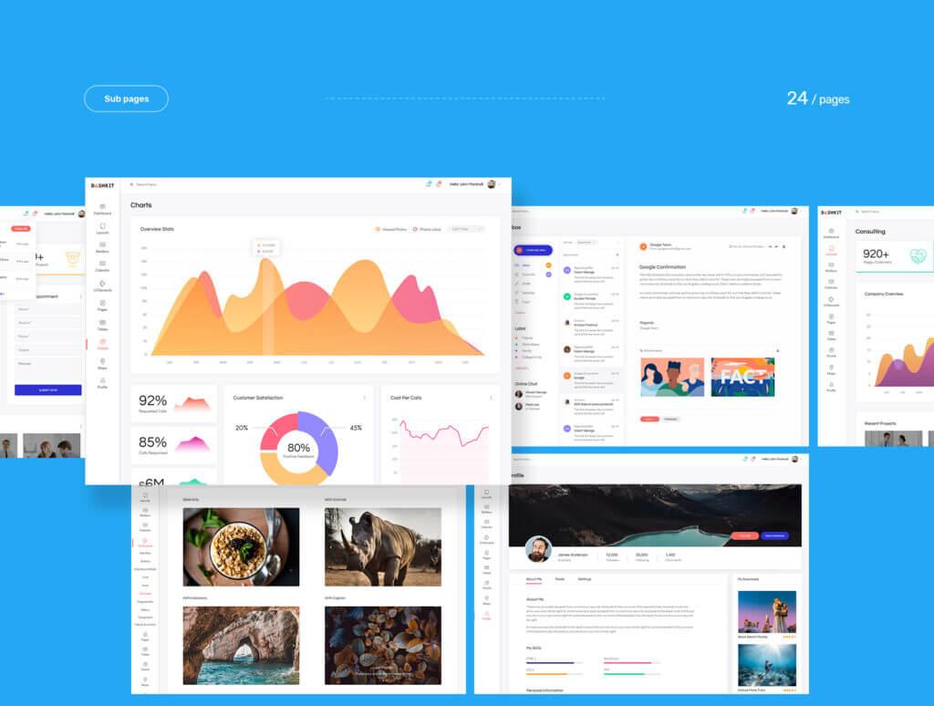 后台仪表盘可视化数据模型素材下载Dashkit  Admin Dashboard UI Kit插图(8)