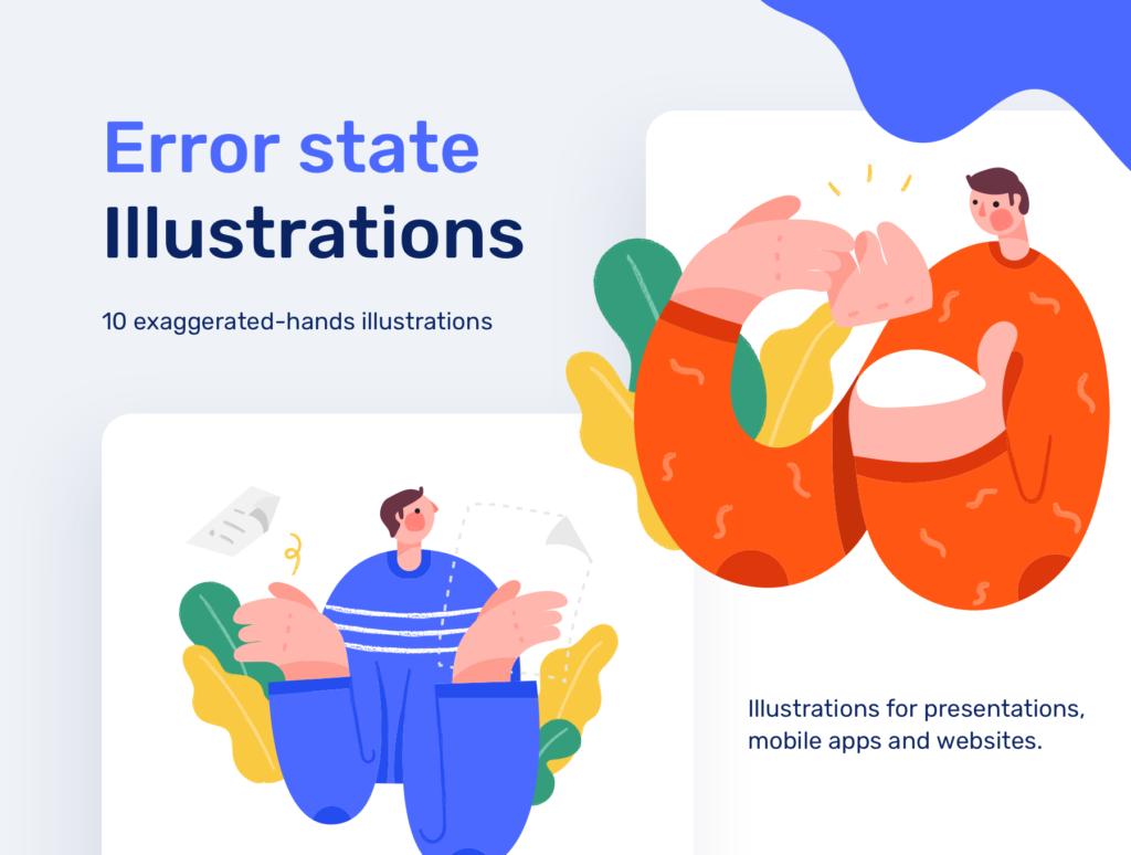 10个创意插图素材/网页BANENR插图素材下载Error State Illustrations插图(1)