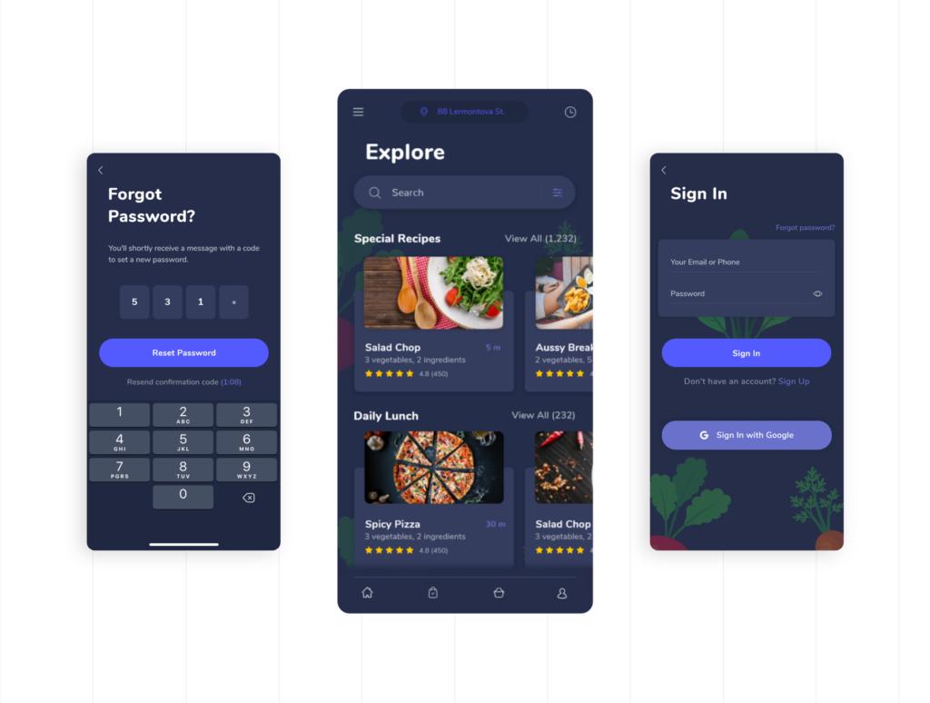 餐厅外卖应用程序设计条件素材源文件下载FoodGo the Best Grocery and Restaurant App插图(5)