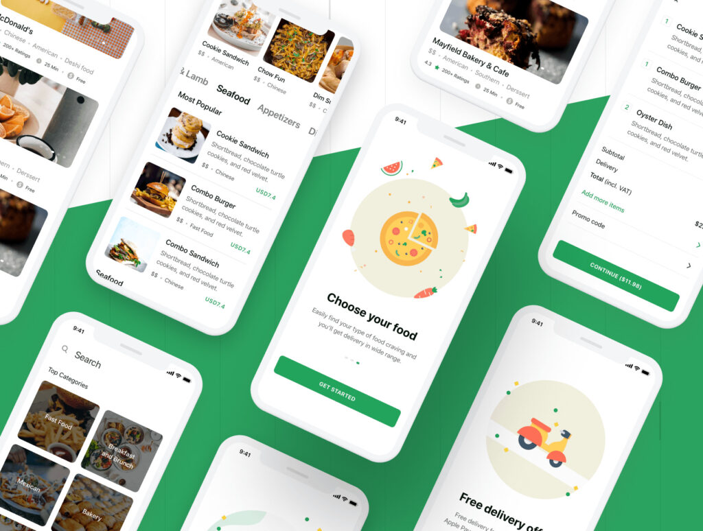 食品配送/美食定制外卖类iOS应用界面设计套件素材下载Foodly iOS UI Kit插图(4)