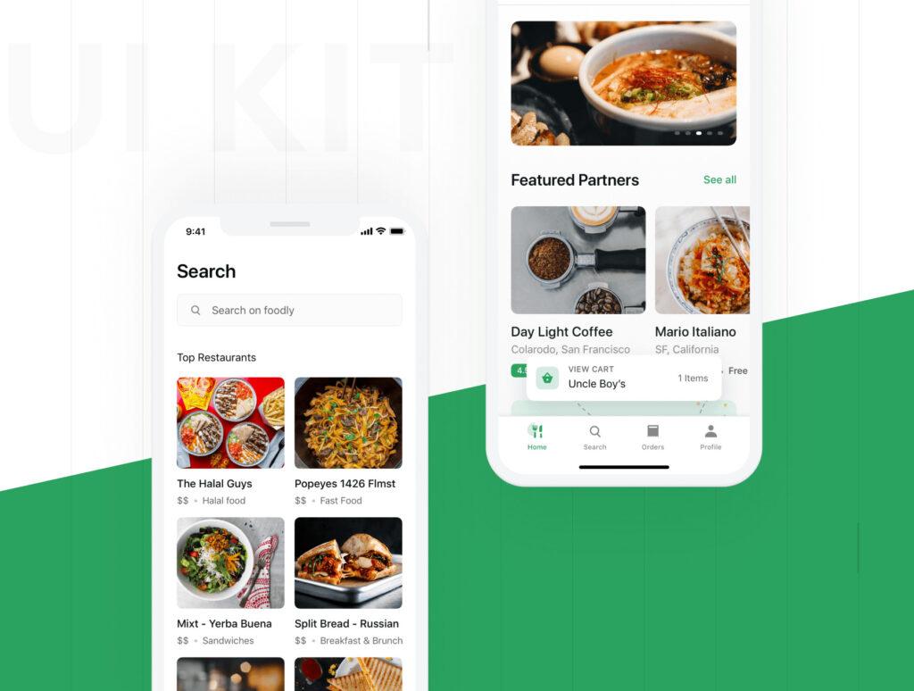 食品配送/美食定制外卖类iOS应用界面设计套件素材下载Foodly iOS UI Kit插图(5)