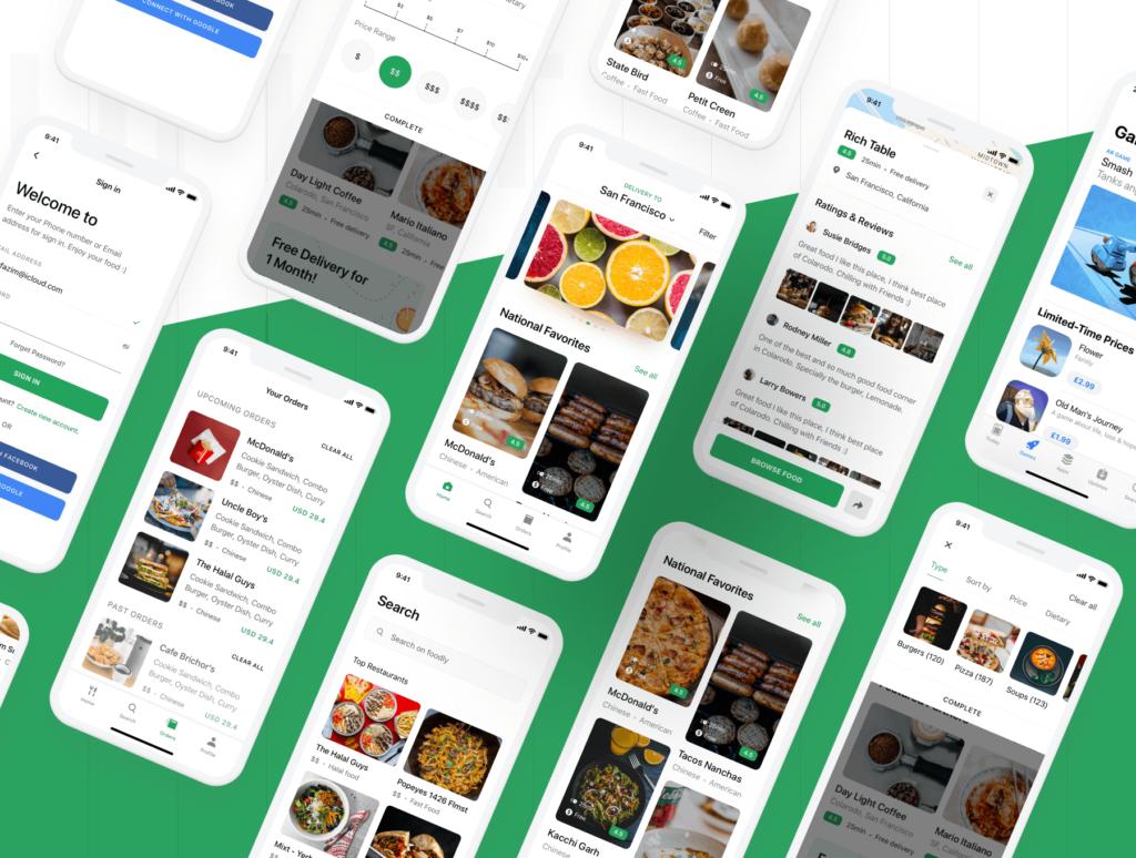 食品配送/美食定制外卖类iOS应用界面设计套件素材下载Foodly iOS UI Kit插图(6)