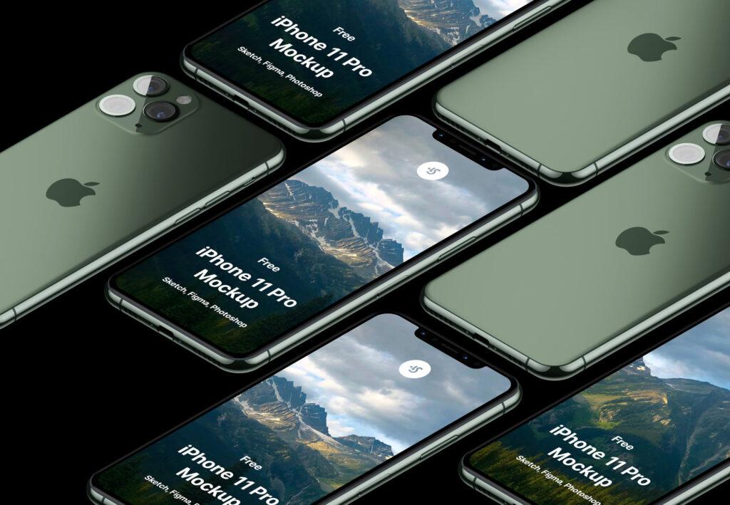 最新款苹果手机样机素材下载 iPhone 11 Mockup插图