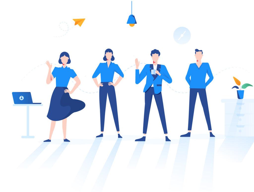 现代企业办公场景插画/移动界面素材下载Illustration Pack插图(10)